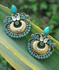 Buy Dreaming In Silver Arnav Gold-plated silver jewelry with gemstones Online at Jaypore.com