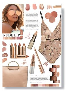 """""""Nude Lip"""" by mmk2k ❤ liked on Polyvore featuring beauty, Quay, Zimmermann, Melie Bianco, Linda Farrow, Burberry, Chantecaille, NARS Cosmetics, AERIN and Charlotte Tilbury"""
