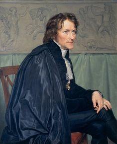 Portrait of Bertel Thorvaldsen  by  Christoffer Wilhelm Eckersberg (Danish 1783-1853)....Thorvaldsen (1770-1844)was an Internationaly famous Danish sculptor who spent most of his life in Rome.