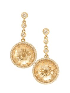 Phillips Frankel 14k Yellow Gold, Diamond and Quartz Drop Earrings at London Jewelers!