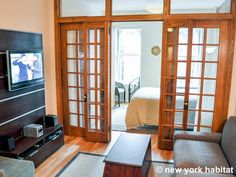 Peekaboo windows frame this #NYC apartment. Rent it here: http://www.nyhabitat.com/new-york-apartment/furnished/14677