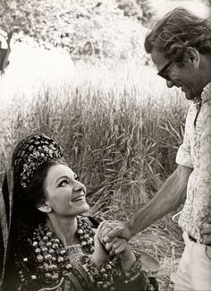 Maria #Callas and Pasolini at the set of #Medea June 1961.