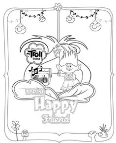 Smallest Troll Smidge Coloring Pages Printable And Book To Print For Free Find More Online Kids Adults Of