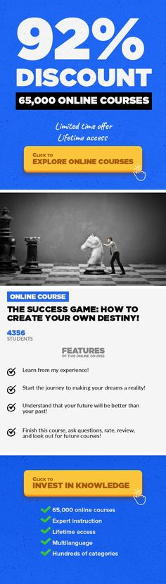 The Success Game: How To Create Your Own Destiny! Strategy, Business #onlinecourses #onlinebusinessopportunities #onlinebusinessentrepreneur  Learn the skills to gain an edge, leave your competition in the dust, and become an independent business owner! Do you struggle to identify how to develop in the world of business? The problem is that there are so many marketers and scam   artists who all pr...