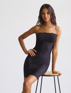 Shapewear that keeps you smoothed, not stuffed. Our raw-cut edges and luxury-technical fabrication creates a sleek line but will not leave you gasping for air. Assets By Spanx, Real Women, Shapewear, Strapless Dress, Formal Dresses, Cotton, Tech, Collection, Spring