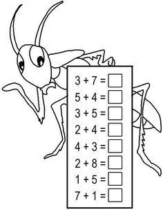 Kindergarten Math Worksheets, School Worksheets, Preschool Printables, Teaching Math, Math Activities, Montessori Math, Homeschool Math, Math Addition, Kindergarten Addition