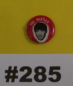 1960s Beatles Button by VigorouslyVintage on Etsy
