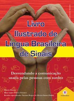 lingua brasileira de sinais livro ilustrado - vermelho                                                                                                                                                                                 Mais