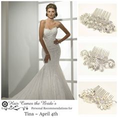 Bridal Accessory Ideas for Sottero and Midgley Dress ~ Tracey JSM1428 by Hair Comes the Bride