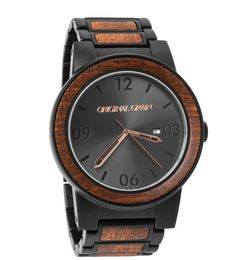 Black / Mahogany Barrel – Original Grain Watches