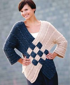 Cable Crossover Sweater by Nicky Epstein Crochet Jacket Pattern, Cardigan Pattern, Knitting Stitches, Knitting Patterns, Tricot D'art, Knit Fashion, Sweater Coats, Crochet Clothes, Knit Crochet