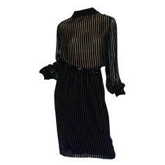 1stdibs.com | 1960s Couture Jean Louis Velvet Dress