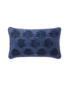 Miramonte Pillow Cover - Vintage Indigo - Serena & Lily - New Spring Arrivals Memorial Day, Indigo, Designer Throw Pillows, Hand Stitching, Soft Fabrics, Pillow Covers, Chair Covers, Bed Pillows, Embroidery