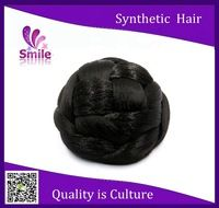 virgin cute synthetic hair bun,Clip in on hair chignon donut roller hairpieces postiche chignon for girls and women