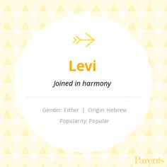 With thousands of names in our handbook, choosing the right on just got easier! Explore the meaning, origin, variations, and popularity of the name Levi. Unusual Baby Names, Unique Names, Cool Names, Baby Names And Meanings, Names With Meaning, B Names, First Names, Fantasy Names, Gender Neutral Names