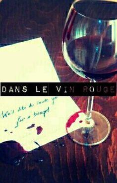 Dans le vin rouge