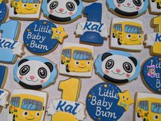 Baby First Birthday Themes, Baby Boy 1st Birthday Party, First Birthday Parties, First Birthdays, Birthday Ideas, Birthday Cookies, Little Babies, Cookie Decorating, Cookies Kids