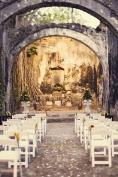 Ceremony Site, Destination wedding, Yucatan, Mexico - this is amazing!