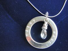hand stamped sterling silver washer (Mums Jewellery Shed).