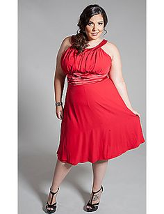 The Caviar dress by SWAK Designs is exquisite! Love the red shade.