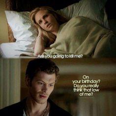 Vampire Diaries. Klaus and Caroline.
