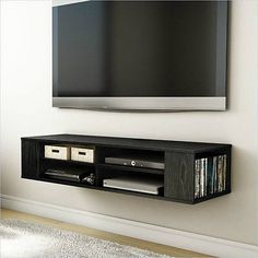 do it yourself homemade floating cabinet entertainment. Black Bedroom Furniture Sets. Home Design Ideas