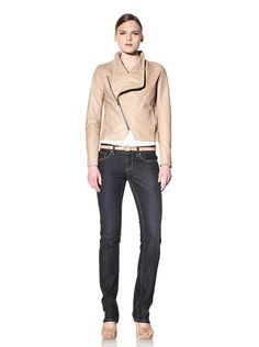 Schiller Leather Jacket...loving this sand colour