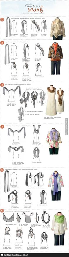 Interesting, but scarves always make my head look too big. Perhaps one of these techniques will be my key to never-ending scarf love!