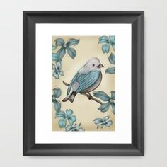 B Bird Framed Art Print by Carina Povarchik | Society6