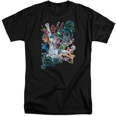Green Lantern/Lanterns Unite Short Sleeve Adult T-Shirt Tall