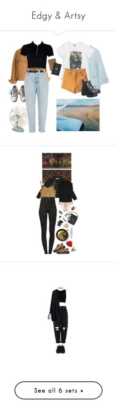 """""""Edgy & Artsy"""" by krypt0nit ❤ liked on Polyvore featuring Madewell, Zara, PAM, Royce Leather, Golden Goose, River Island, Bill Blass, STELLA McCARTNEY, Erika Cavallini Semi-Couture and Isabel Marant"""
