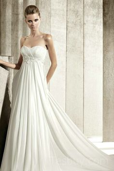Empire Embroidery Chiffon Maternity Wedding Dress WIth Corset Back,Fashion Maternity Wedding Dresses - Buy Cheap Maternity Wedding Dresses Online! Get Discount & Quality Items With Low Prices Sale : Tesbuy.com