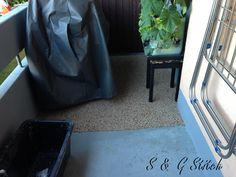 Da der Untergrund sauber ist haftet der Steinboden sehr gut !!