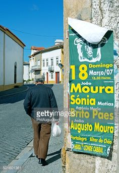 Alpalhao, Portugal–March 7, 2007: A man with a bag in his... #alpalhao: Alpalhao, Portugal–March 7, 2007: A man with a bag in… #alpalhao