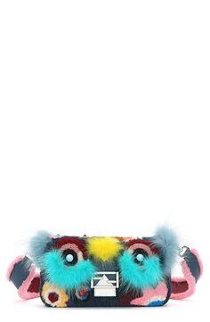 Fendi 'Monster' Genuine Shearling & Genuine Fox Fur Baguette available at #Nordstrom