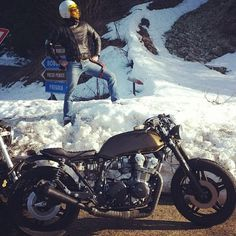 @goldblack83 and his #cb750 in #Italy  #caferacerxxx #caferacerworld #caferacerculture #Padgram