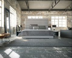 Industrial Loft Conversion Bedroom Spaces . . . Home House Interior Decorating Design Dwell Furniture Decor Fashion Antique Vintage Modern Contemporary Art Loft Real Estate NYC Architecture Inspiration New York YYC YYCRE Calgary Eames