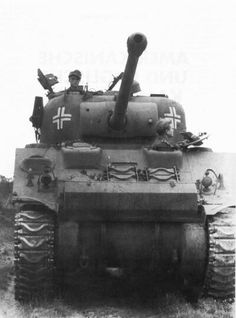 With large losses of armored vehicles, German units made regular use of captured Sherman tanks and other assets.