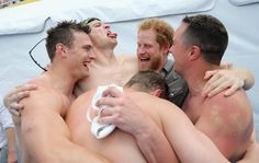 Pin for Later: The Best Pictures of the British Royals in 2016 — So Far! When Harry Celebrated at the Invictus Games With the British Swim Team