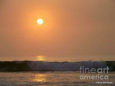 Orange Sunshine   Sunrise along Hampton Beach in Hampton, New Hampshire  If you go try our Seafood YUM!