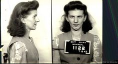 All This Is That: Mugshots of Montreal prostitutes, circa late 1930's-early '40s