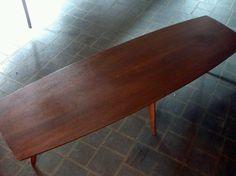 Vintage Mid Century Modern Mersman Surfboard Style Coffee Table | eBay