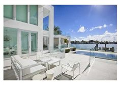 Check out this beautiful outdoor furniture! Perfect for withstanding Miami's strong sun. Miami Beach, FL Coldwell Banker Residential Real Estate