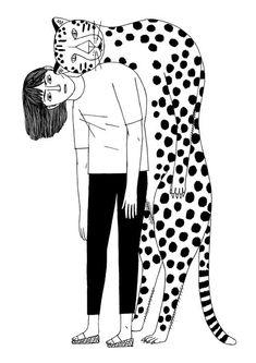 Illustration by Amélie Fontaine - Tragen Amelie, Georges Seurat, Christopher Nolan, Stanley Kubrick, Boy Illustration, Illustration Simple, Art Watercolor, Design Poster, Graphic Design