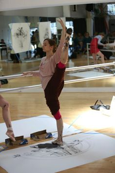 They put ink on their ballet slippers and pointe shoes and then did barre-work! Ballet Class, Ballet Dancers, Ballet Art, Ballet Painting, Ballet Style, Dance Class, Dance It Out, Just Dance, Dance Photos