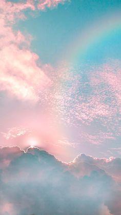 Rainbow in the sky – Regenbogen im Himmel – Cloud Wallpaper, Rainbow Wallpaper, Iphone Background Wallpaper, Tumblr Wallpaper, Disney Wallpaper, Nature Wallpaper, Screen Wallpaper, Galaxy Wallpaper Iphone, Iphone Wallpapers