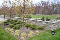 The Quarry Mill's Smokey Gold real thin stone veneer creates a stunning container garden. #naturalstoneveneer #realstoneveneer #thinstoneveneer #stonesiding #quarrymill #quarry #masonry #designideas #designinspiration #containergarden #landscape #landscapedesign #dreamhome #welcomehome #ledgestone Real Stone Veneer, Natural Stone Veneer, Natural Stones, Stone Siding, Container Gardening, Landscape Design, Outdoor Living, Exterior, Nature