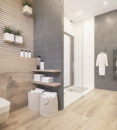 Modern bathroom design 226165212521288179 - An Organic Modern Home With Subtle Industrial Undertones Source by Dark Gray Bathroom, Grey Bathroom Tiles, Grey Bathrooms, Beautiful Bathrooms, Small Bathroom, Bathroom Ideas, Master Bathroom, Modern Bathrooms, Budget Bathroom