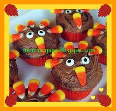 Mom's Recipies: Thanksgiving Cupcakes
