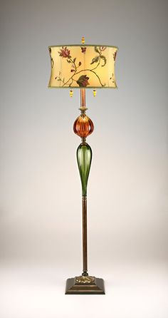 """""""James Floor Lamp"""" by Susan Kinzig and Caryn Kinzig: Mixed-Media Floor Lamp available at www.artfulhome.com"""
